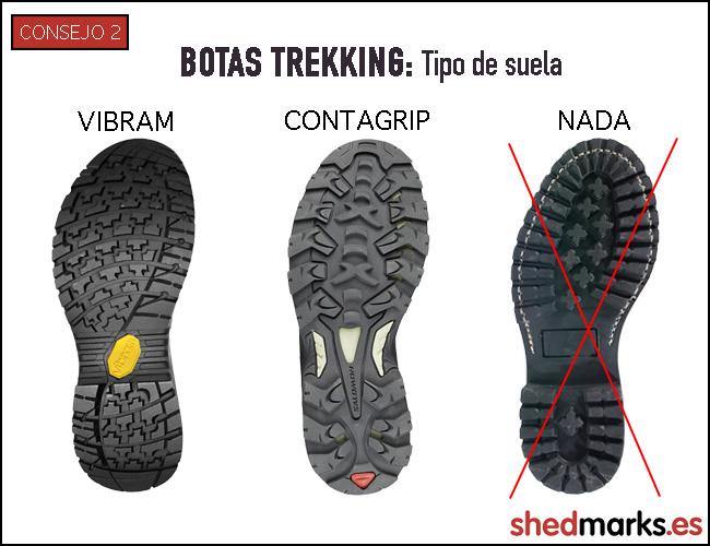 Consejo nº2 en las botas de trekking: tipo de suela.