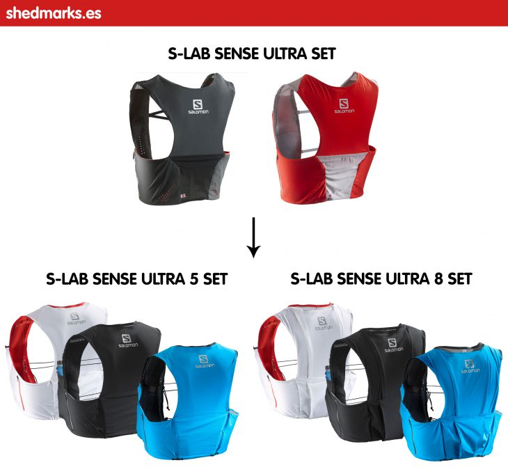 Mochila trail running Salomon S-Lab Sense 5 Set