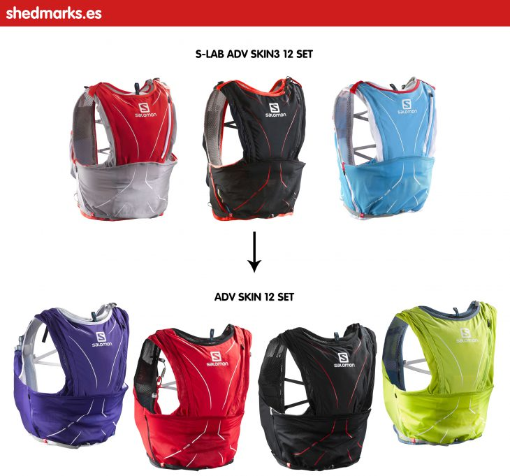 Mochila trail running Salomon Adv Skin 12 Set