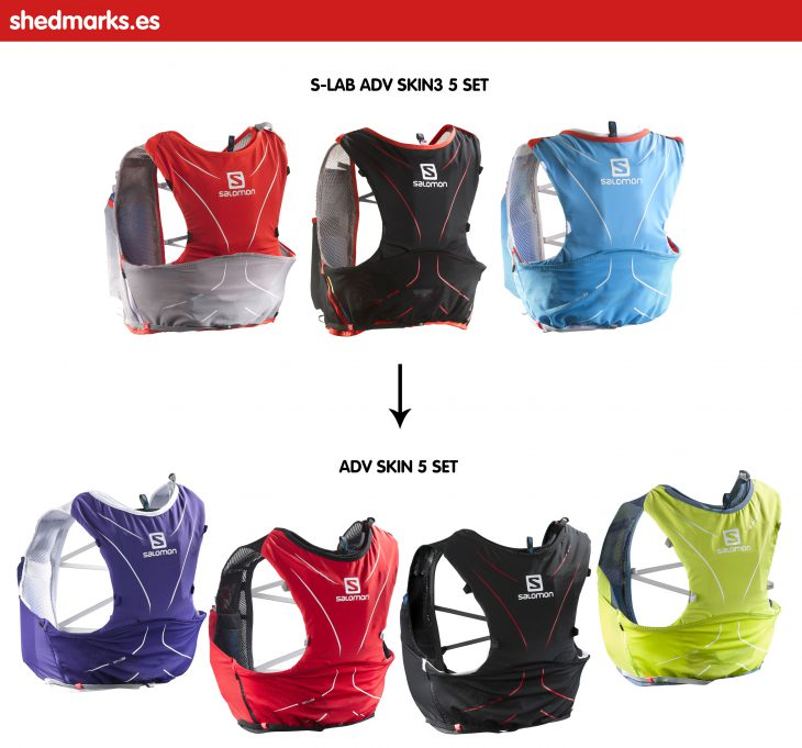 Mochila trail running Salomon Adv Skin 5 Set